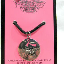 HARLEY-DAVIDSON: STERLING SILVER DOUBLE SIDED PINK LABEL COLLECTION NECKLACE