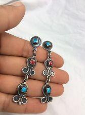 Beautiful vtg  Hob Taxco Mexico Sterling Silver 925 Pierce earrings