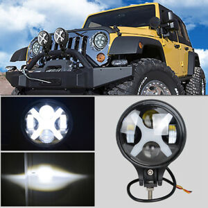 "6"" 60W Round LED Auxiliary Spot Light DRL Fit for Off-road Jeep ATV SUV Summply"