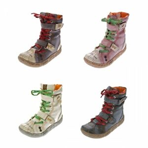 Damen Leder Stiefeletten TMA 7087 N Winter Schuhe echt Leder gefüttert Stiefel