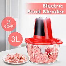 3L Electric Vegetable Blender Food Chopper Meat Grinder Mincer Kitchen Machine