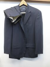 Nautica Men's Navy Pinstripe Suit: Three Button Sport Coat 40L and Pants 34Wx33L