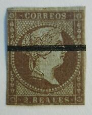 SPAIN - Classic 1855 - MMH HR - Dull Purple/Blueish Paper with ink line