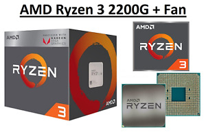 AMD Ryzen 3 2200G Quad Core ''Raven Ridge'' 3.5-3.7 GHz, AM4, 65W CPU Sealed Box