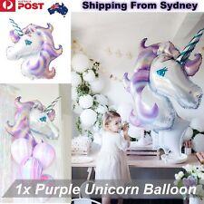 1x HUGE Purple Unicorn Fantasy Horse Girls Balloon Foil Birthday Party Decoratio
