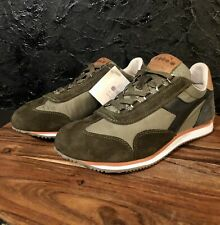 Diadora Heritage 1975 Camel Brown Leather Green And Blue Running Shoes Nwt Sz 7