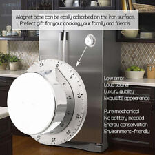 Durable Mechanical Kitchen Timer Magnetic Baking Minutes Alarm Stainless Steel
