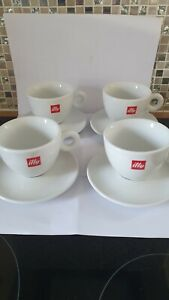 Illy coffee cups and Saucers X4