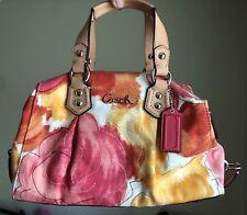 Coach F21885 Ashley Multicolor Floral Print Satchel Handbag Purse $358. NEW