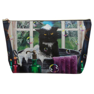 Large PVC Make Up Toiletry Wash Bag Lisa Parker Bath Time Cat Wiccan cosmetic
