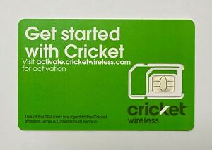 Cricket Wireless Universal Tri-Cut SIM Card Activation Kit BYOD / BYOP BRAND NEW