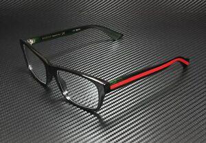 GUCCI GG0006O 006 Round Oval Black Demo Lens 55 mm Men's Eyeglasses