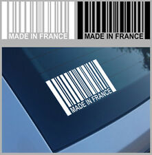 MADE IN FRANCE PEUGEOT CITROEN RENAULT AUTOCOLLANT STICKER 12cmX6,5cm (MA175).