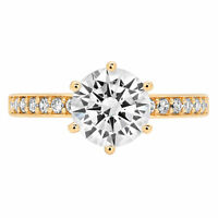 2.06ct Round Cut Anniversary Engagement Bridal Solitaire Ring 14k Yellow Gold