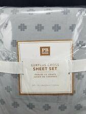 Pottery Barn Teen Surplus Cross Organic Sheet Set Full #4577