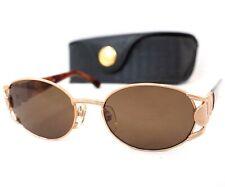 FENDI sunglasses vintage rose gold brown FS 296 oval zucca ff logo unisex 140