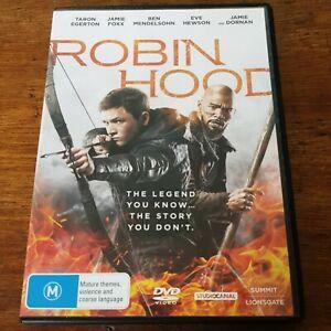 Robin Hood Taron Egerton DVD R4 Like New! FREE POST