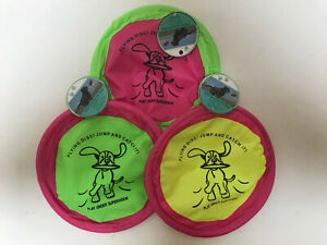 "Lot of 3 Floppy Soft Flying Discs for Dogs 10"" Lightweight Play Toy FREE SHIP"