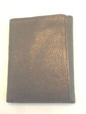 Perry Ellis Slim Genuine Leather Trifold Wallet, Black