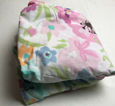 """Pottery Barn Teen Duvet Full/Queen Floral Multicolored 82"""" x 86"""" Organic Cotton"""