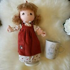 "Precious Moments Fall Musical Wind Up Doll And Mug ""God Gave You A Perfect."