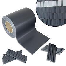 2,9€/m² PVC Sichtschutz Streifen Folie Doppelstabmatten-Zaun Rolle Windschutz