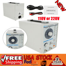 Signal Generator Audiolow Frequency 10hz 1mhz Withpower Cord Test Clip Tag 101