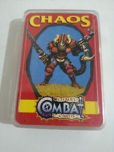Rare Vintage Citadel Combat Cards - Chaos - Warhammer Games Workshop