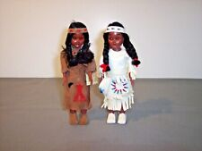 2 Vintage Carlson Collector Souvenir Native American Indian Doll One W/Tag