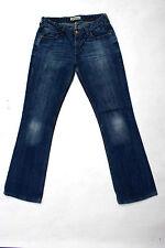 Para Mujer Levis 572 Blue Jeans Denim Boot Cut se desvaneció Acampanado Red Tab W31 L34 Reino Unido 14