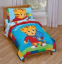 Toddler Bedding Set Kids Daniel Tiger Blue Boy Gift Soft Comforter Sheet New