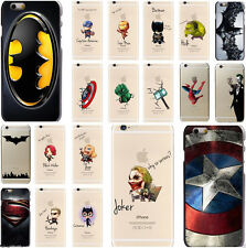 Super Hero Comic Book Avengers Novelty Mobile Phone Hard Cover Case For iPhone