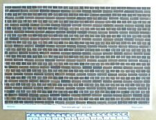 "Dolls house 1/12th scale ""Dark brick with age"" paper - A4 sheet"