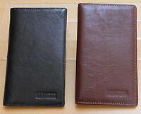 Golunski Quaility Leather Mens Notecase Suit Wallet * Slim Long * Black or Brown