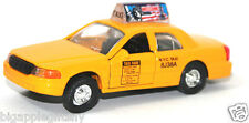 "Die cast New York City Yellow Taxi Cab toy model Pull back and go action 5"" long"