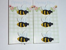 Adorable 3D Detailed Bee Shank Buttons Realistic Bee Buttons (6)