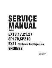 Subaru Robin Engine Service & Repair Shop Manual EX13 EX17 EX21 EX27 SP170 SP210