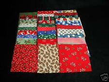 30 4-Inch 100% Cotton Fabric Christmas Quilt Squares - 15 Different Prints