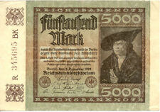 ALLEMAGNE GERMANY 5000 M 1922 état voir scan 695