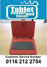 "Red USB Keyboard Carry Folder Case for CnM 9 inch Touchpad 9"" Versus Tablet"