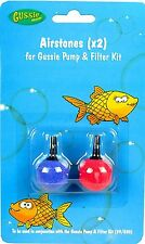 2 Gussie Ball Bubble Air Stones Aquarium Pump Accessories Fish Tank Oxygen 822