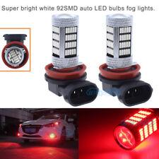 2x 92SMD Fog Light H11 H9 H8 Red LED Bulb For Chevrolet Cruze Equinox 1800LM