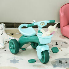 HOMCOM 3 Wheel Kids Tricycle Toddler Pedal Bicycle Balance Bike Green 3-6 Years
