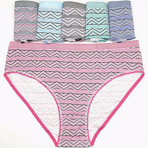 6 Pcs Women's Cotton Underwear Sexy High Cut Comfort Briefs Panties Lingerie