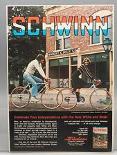 Vintage Magazine Ad Print Design Advertising Schwinn Bicycles