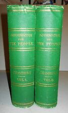 Chambers' Information for the People Encyclopaedia  Rev. Ed / 1871 / 2 VOL SET
