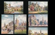 OXFORDSHIRE TUCKS OILETTE 7644 PICTURESQUE OXFORD ARTIST WIMBUSH FINE UNUSED SET