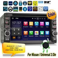 2 Din Autoradio Android 8.1 Doppio Nissan Navigatore DVD DAB+GPS DTV Wifi 3836IT