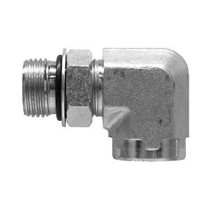 """6815-08-08 Hydraulic Fitting 1/2"""" Male O-Ring X 1/2"""" Female O-Ring Port 90"""