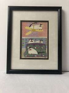 Martha Wahlert Colorful In My Next Life I Want To Be A Cat Series 1990 Litho Art